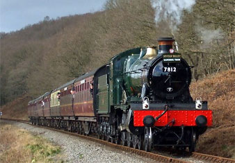 7812 Erlestoke Manor with the re-opening train, March 21st 2008. Photo: Tom Clarke